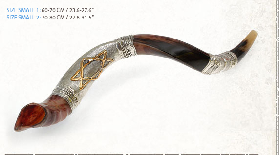 Yemenite Silver Plated Shofars Y Small